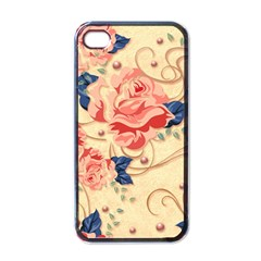 Beautiful Pink Roses Apple Iphone 4 Case (black) by Brittlevirginclothing
