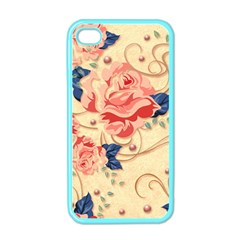 Beautiful Pink Roses Apple Iphone 4 Case (color) by Brittlevirginclothing