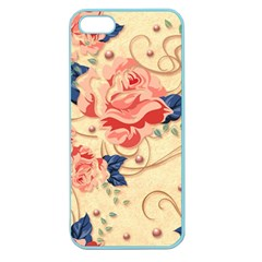 Beautiful Pink Roses Apple Seamless Iphone 5 Case (color) by Brittlevirginclothing