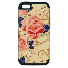 Beautiful Pink Roses Apple Iphone 5 Hardshell Case (pc+silicone) by Brittlevirginclothing