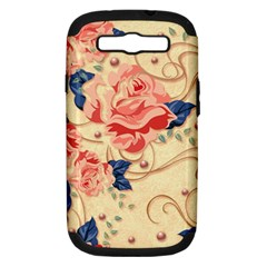Beautiful Pink Roses Samsung Galaxy S Iii Hardshell Case (pc+silicone) by Brittlevirginclothing