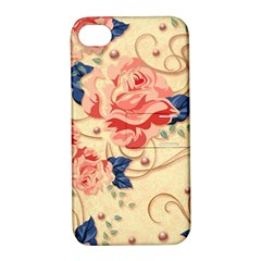 Beautiful Pink Roses Apple Iphone 4/4s Hardshell Case With Stand by Brittlevirginclothing