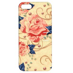 Beautiful Pink Roses Apple Iphone 5 Hardshell Case With Stand by Brittlevirginclothing