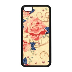 Beautiful Pink Roses Apple Iphone 5c Seamless Case (black) by Brittlevirginclothing
