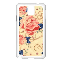 Beautiful Pink Roses Samsung Galaxy Note 3 N9005 Case (white)