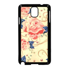 Beautiful Pink Roses Samsung Galaxy Note 3 Neo Hardshell Case (black) by Brittlevirginclothing