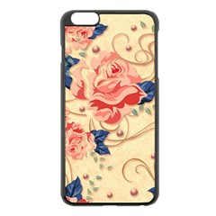 Beautiful Pink Roses Apple Iphone 6 Plus/6s Plus Black Enamel Case by Brittlevirginclothing