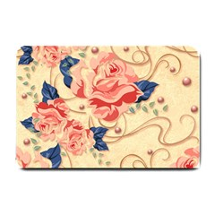 Beautiful Pink Roses Small Doormat  by Brittlevirginclothing
