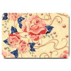 Beautiful Pink Roses Large Doormat  by Brittlevirginclothing