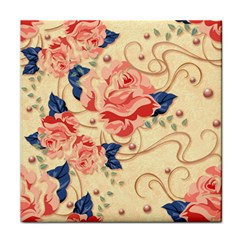Beautiful Pink Roses Face Towel by Brittlevirginclothing