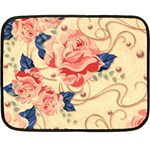 Beautiful pink roses Double Sided Fleece Blanket (Mini)  35 x27 Blanket Front