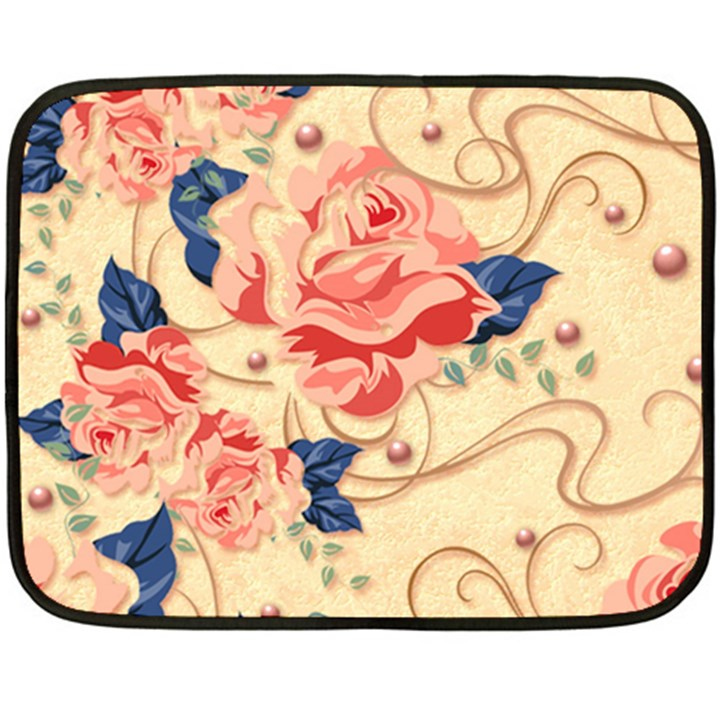 Beautiful pink roses Double Sided Fleece Blanket (Mini)