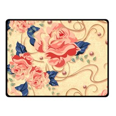 Beautiful Pink Roses Fleece Blanket (small) by Brittlevirginclothing