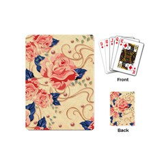 Beautiful Pink Roses Playing Cards (mini)  by Brittlevirginclothing