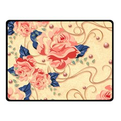 Beautiful Pink Roses Double Sided Fleece Blanket (small)  by Brittlevirginclothing