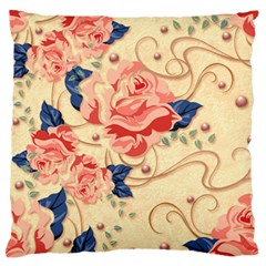 Beautiful Pink Roses Standard Flano Cushion Case (one Side) by Brittlevirginclothing