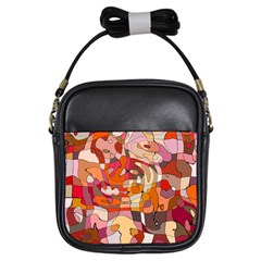 Abstract Abstraction Pattern Moder Girls Sling Bags by Amaryn4rt