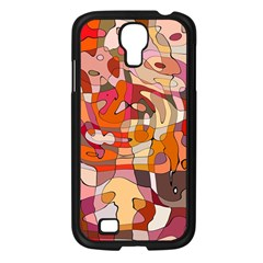 Abstract Abstraction Pattern Moder Samsung Galaxy S4 I9500/ I9505 Case (black)