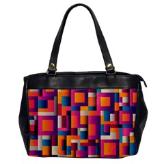 Abstract Background Geometry Blocks Office Handbags by Amaryn4rt