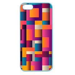 Abstract Background Geometry Blocks Apple Seamless Iphone 5 Case (color)