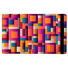 Abstract Background Geometry Blocks Apple Ipad 3/4 Flip Case by Amaryn4rt