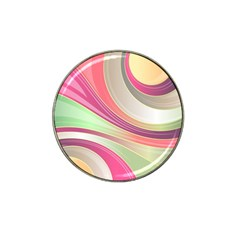 Abstract Colorful Background Wavy Hat Clip Ball Marker by Amaryn4rt