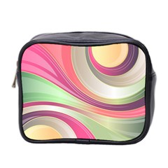 Abstract Colorful Background Wavy Mini Toiletries Bag 2 Side by Amaryn4rt
