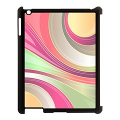 Abstract Colorful Background Wavy Apple Ipad 3/4 Case (black) by Amaryn4rt