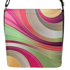 Abstract Colorful Background Wavy Flap Messenger Bag (s) by Amaryn4rt