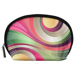 Abstract Colorful Background Wavy Accessory Pouches (large)