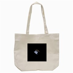 Ghost Night Night Sky Small Sweet Tote Bag (cream)
