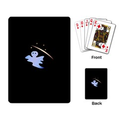 Ghost Night Night Sky Small Sweet Playing Card by Amaryn4rt