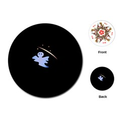 Ghost Night Night Sky Small Sweet Playing Cards (round)
