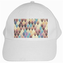 Abstract Colorful Background Tile White Cap