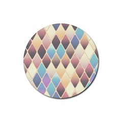 Abstract Colorful Background Tile Rubber Round Coaster (4 Pack)