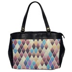 Abstract Colorful Background Tile Office Handbags Front