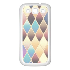 Abstract Colorful Background Tile Samsung Galaxy S3 Back Case (white)