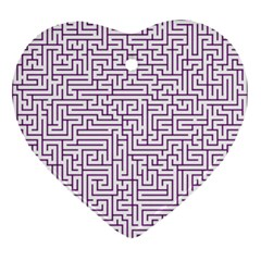 Maze Lost Confusing Puzzle Ornament (heart)  by Amaryn4rt
