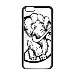 Mammoth Elephant Strong Apple Iphone 6/6s Black Enamel Case by Amaryn4rt