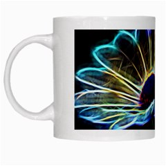 Flower Pattern Design Abstract Background White Mugs by Amaryn4rt