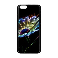 Flower Pattern Design Abstract Background Apple Iphone 6/6s Black Enamel Case by Amaryn4rt