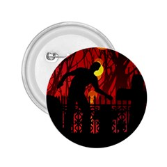 Horror Zombie Ghosts Creepy 2 25  Buttons