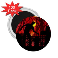 Horror Zombie Ghosts Creepy 2 25  Magnets (100 Pack)  by Amaryn4rt