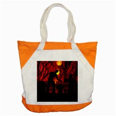 Horror Zombie Ghosts Creepy Accent Tote Bag by Amaryn4rt