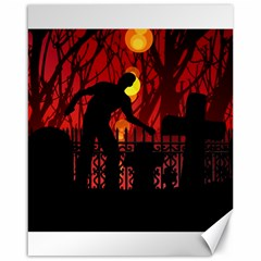 Horror Zombie Ghosts Creepy Canvas 16  X 20   by Amaryn4rt