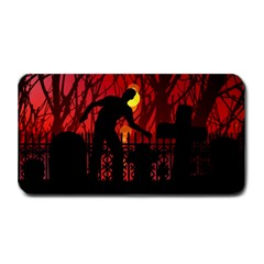 Horror Zombie Ghosts Creepy Medium Bar Mats by Amaryn4rt