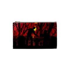 Horror Zombie Ghosts Creepy Cosmetic Bag (small)  by Amaryn4rt