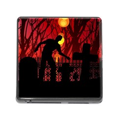 Horror Zombie Ghosts Creepy Memory Card Reader (square) by Amaryn4rt