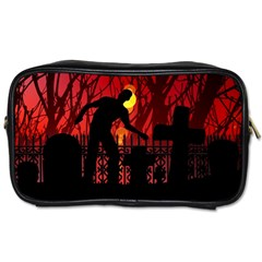 Horror Zombie Ghosts Creepy Toiletries Bags by Amaryn4rt