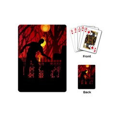 Horror Zombie Ghosts Creepy Playing Cards (mini)  by Amaryn4rt